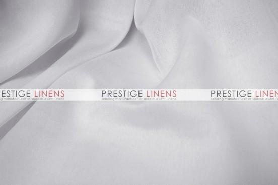 Two Tone Chiffon Table Linen - White