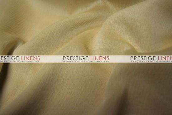 Two Tone Chiffon Table Linen - White/Gold