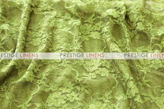 Victorian Stretch Lace Table Linen - Avocado