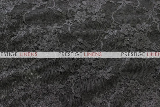 Victorian Stretch Lace Table Linen - Black