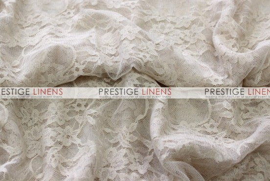 Victorian Stretch Lace Table Linen - Champagne