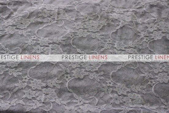 Victorian Stretch Lace Table Linen - Charcoal