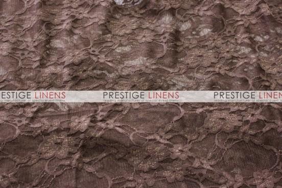 Victorian Stretch Lace Table Linen - Chocolate