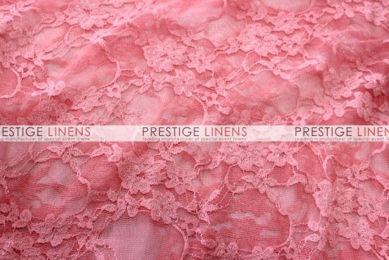 Victorian Stretch Lace Table Linen - Coral