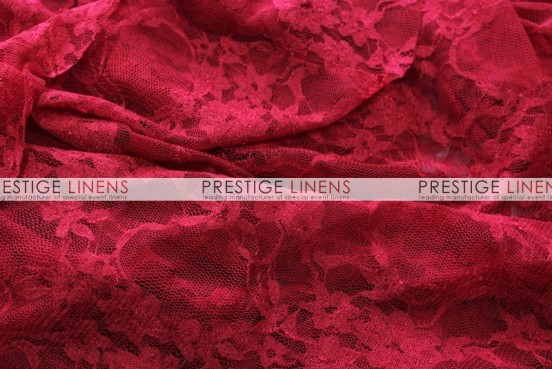 Victorian Stretch Lace Table Linen - Cranberry
