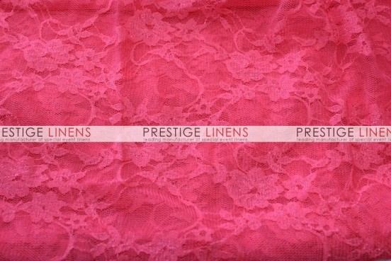 Victorian Stretch Lace Table Linen - Dk Coral