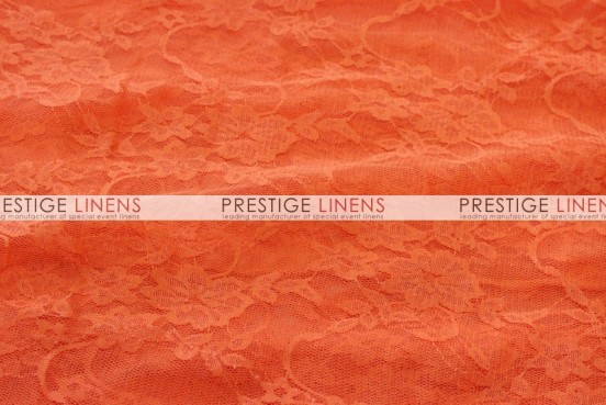Victorian Stretch Lace Table Linen - Orange