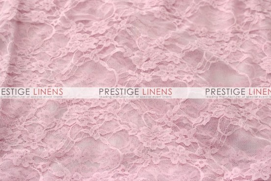 Victorian Stretch Lace Table Linen - Pink