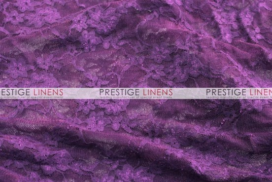 Victorian Stretch Lace Table Linen - Plum