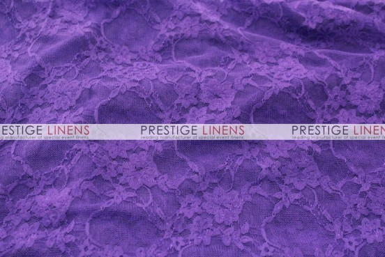 Victorian Stretch Lace Table Linen - Purple
