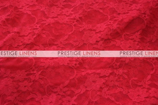 Victorian Stretch Lace Table Linen - Red