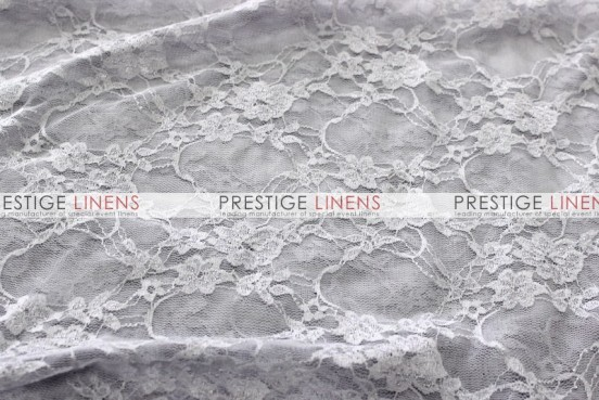 Victorian Stretch Lace Table Linen - Silver