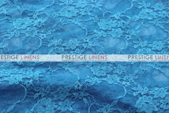 Victorian Stretch Lace Table Linen - Turquoise