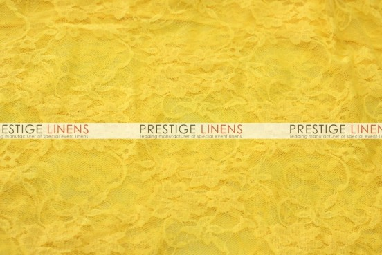 Victorian Stretch Lace Table Linen - Yellow