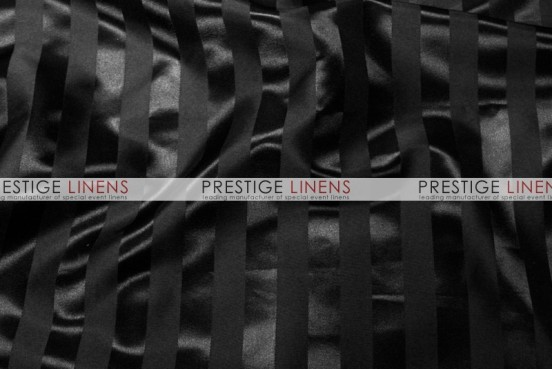 Bridal Satin Stripe Table Runner - Black