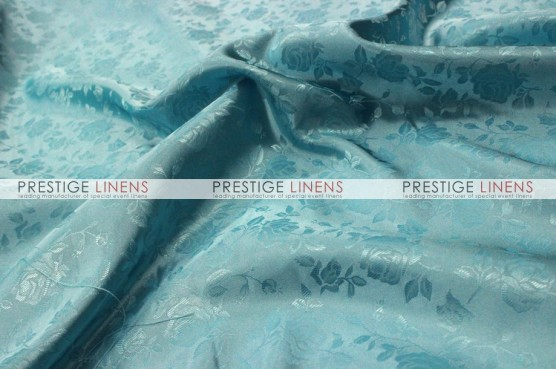 Brocade Satin Table Runner - Aqua