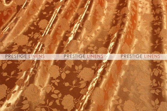 Brocade Satin Table Runner - Orange