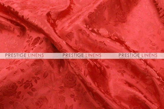 Brocade Satin Table Runner - Red