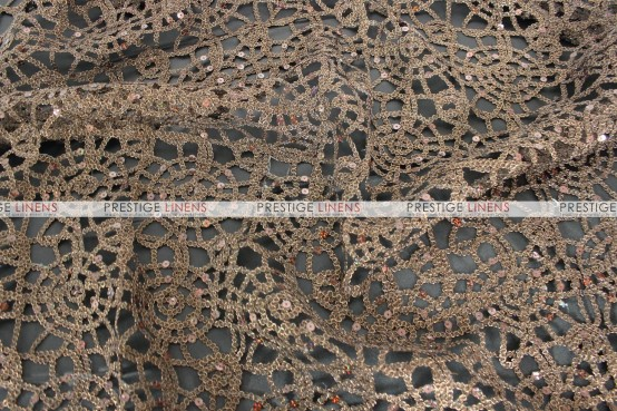 Chemical Lace Table Runner - Brown