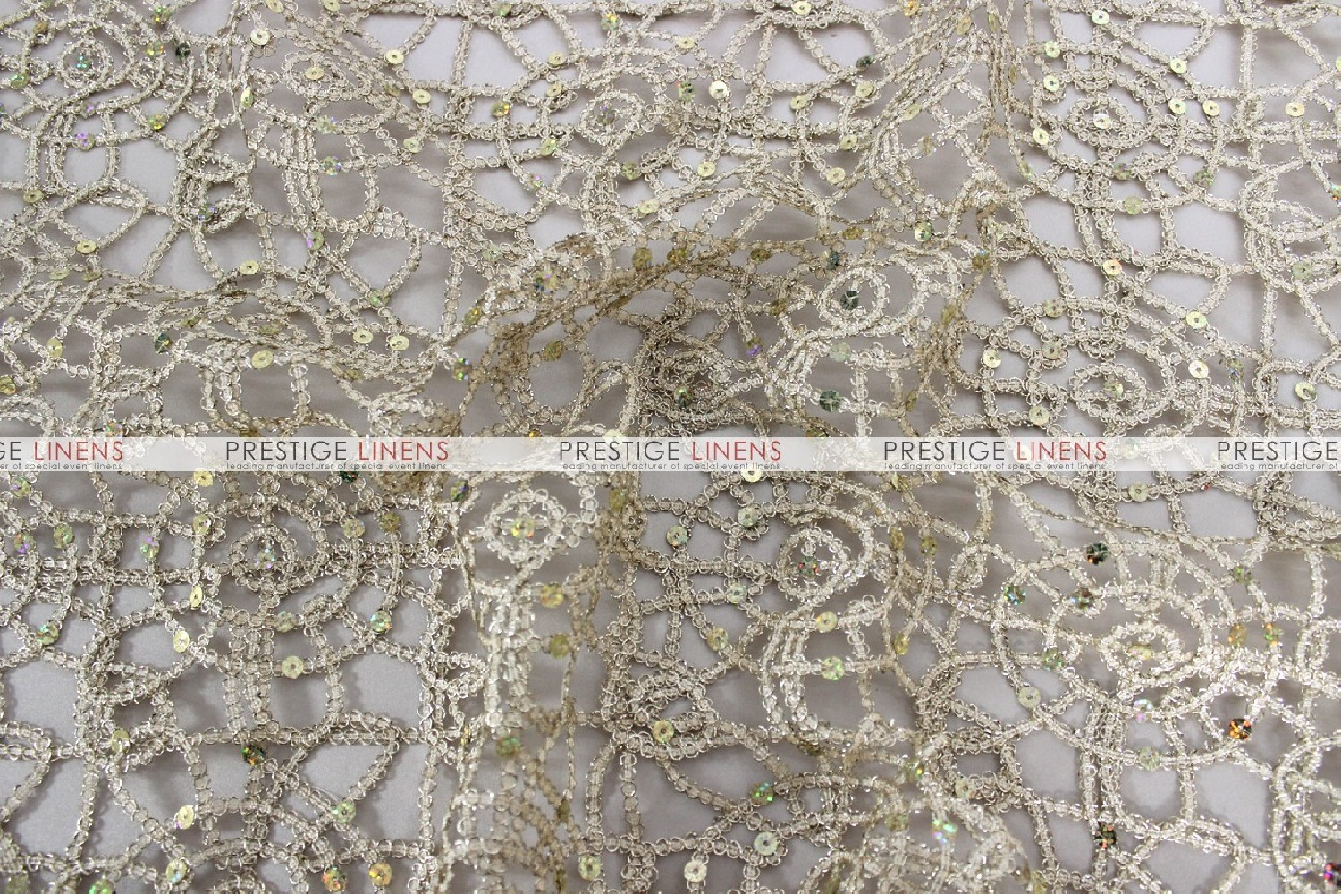 chemical lace table runner champagne