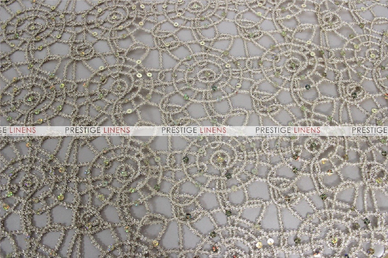 Chemical Lace Table Runner Champagne Prestige Linens