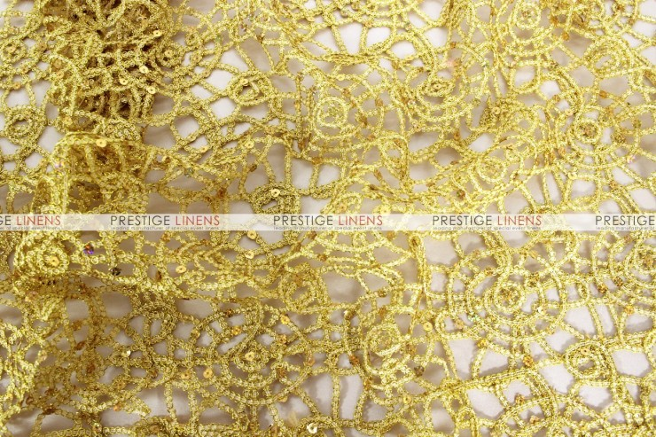 Chemical Lace Table Runner Gold Prestige Linens