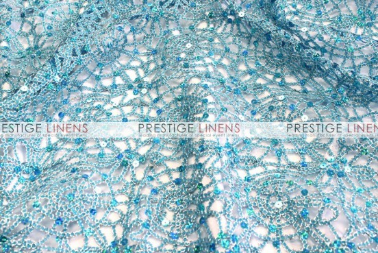 Chemical Lace Table Runner - Turquoise