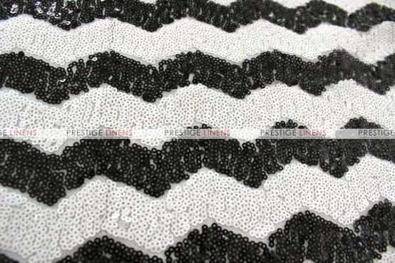 Chevron Glitz Table Runner - Black