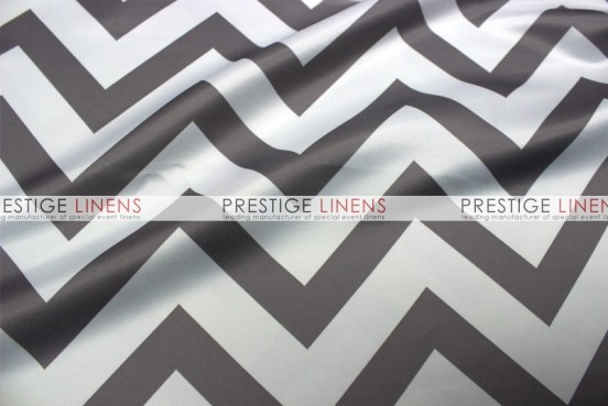 Chevron Print Lamour Table Runner   Grey