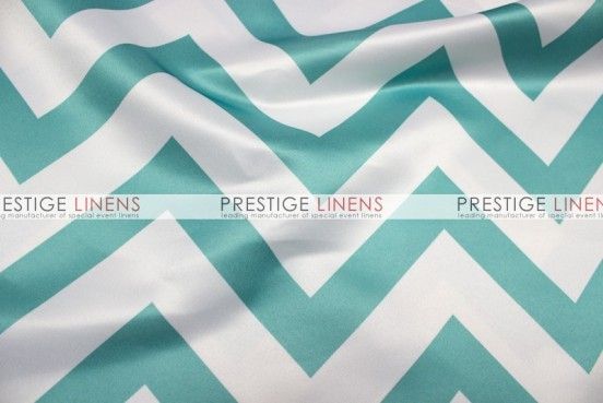 Chevron Print Lamour Table Runner   Jade