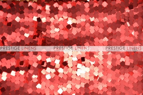 Dazzle Square Sequins Draping - Red