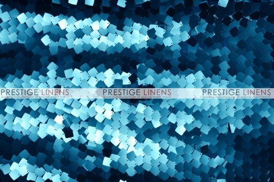 Dazzle Square Sequins Draping - Turquoise