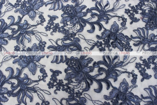 Giselle Net Embroidery Table Runner - Navy