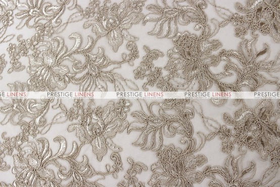 Giselle Net Embroidery Table Runner - Taupe
