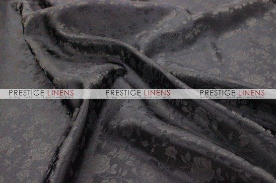 Brocade Satin Draping - Black
