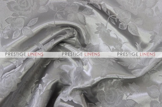 Brocade Satin Draping - Silver