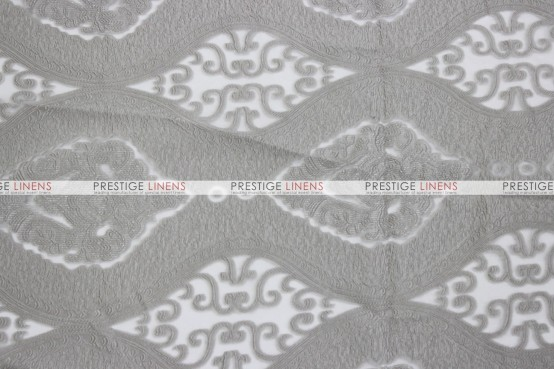 Imperial Damask Table Runner - Silver