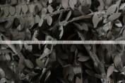 Leaf Petal Taffeta Table Runner - Black