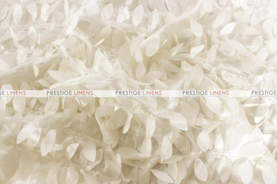 Leaf Petal Taffeta Table Runner - Ivory
