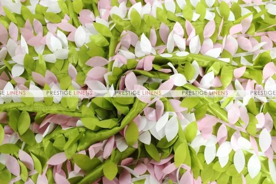 Leaf Petal Taffeta Table Runner - Multi Lime