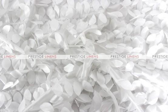 Leaf Petal Taffeta Table Runner - White