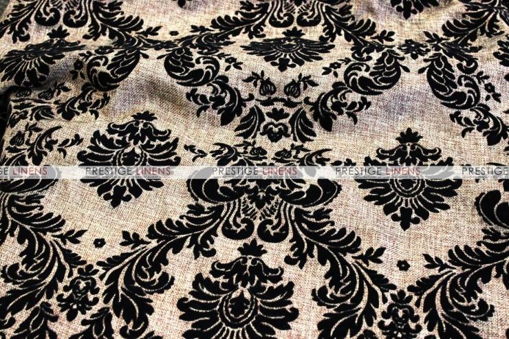 Linen Damask Table Runner   Khaki