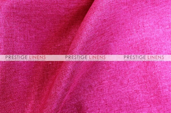 Metallic Linen Table Runner - Berry