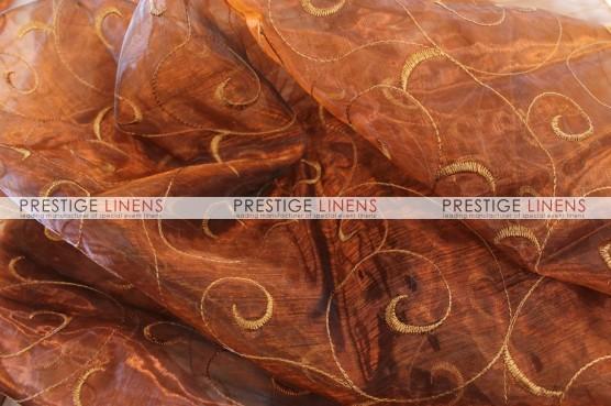 Organza Swirl Table Runner - 342 Copper
