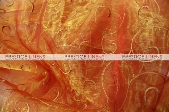 Organza Swirl Table Runner - 431 Orange