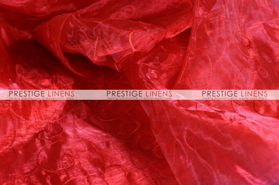 Organza Swirl Table Runner - 626 Red
