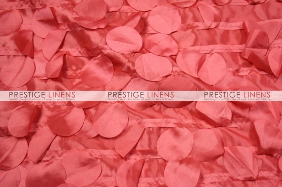 Petal Taffeta Table Runner - Lt Coral