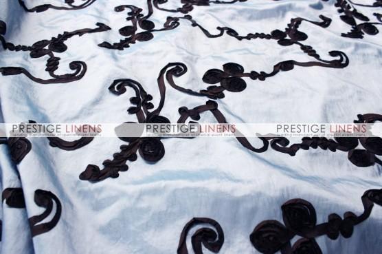 Ribbon Taffeta Table Runner - Blue/Brown