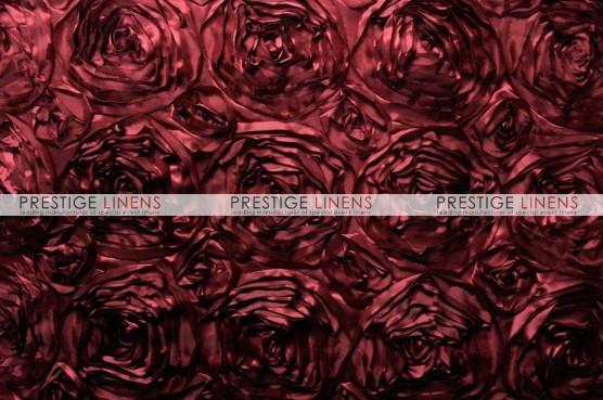 Rosette Satin Table Runner - Burgundy