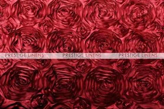 Rosette Satin Table Runner - Cherry